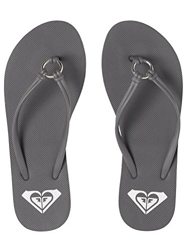 Roxy Gris ARJL100649 pour Solis Grey Tongs Dark Femme rUwZrXxq