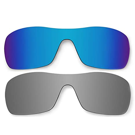 b5877390213 Amazon.com  ACOMPATIBLE Replacement Polarized Ice Blue and Titanium Lenses  for Oakley Antix Sunglasses  Sports   Outdoors