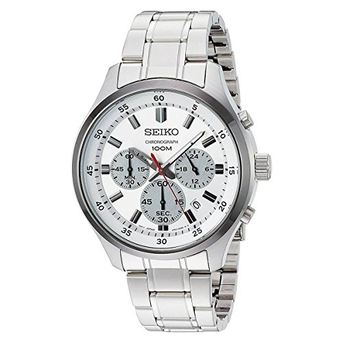 Seiko Men's 'SPECIAL VALUE' Quartz Stainless Steel Casual Watch, Color:Silver-Toned (Model: SKS597)