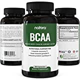 Natura BCAA Capsules - Natural Branched Chain Amino Acids - Pure BCAAs for Recovery, Weight Loss, Build Lean and Burn Muscle - Pre Workout Dietary Supplement for Men and Women.