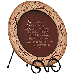 Your Hearts Delight Serenity Prayer Wooden Plate, 11-3/8-Inch