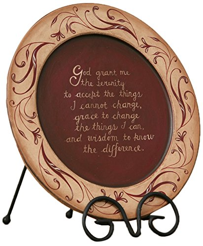 Prayer Plate (Your Hearts Delight Serenity Prayer Wooden Plate, 11-3/8-Inch)