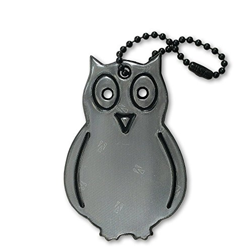 [funflector Safety Reflector - Owl - Black - 1-Pack] (Athena Adult Costumes)