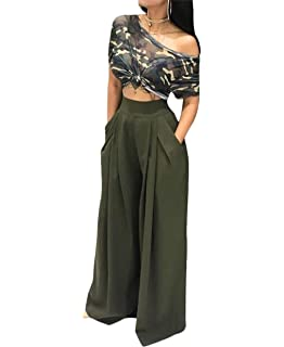 Bottoms New Hot Women Fashion Solid Color High Waist Wide Leg Long Pants Ladies Elegant Loose Straight Trousers With Belt Women's Clothing