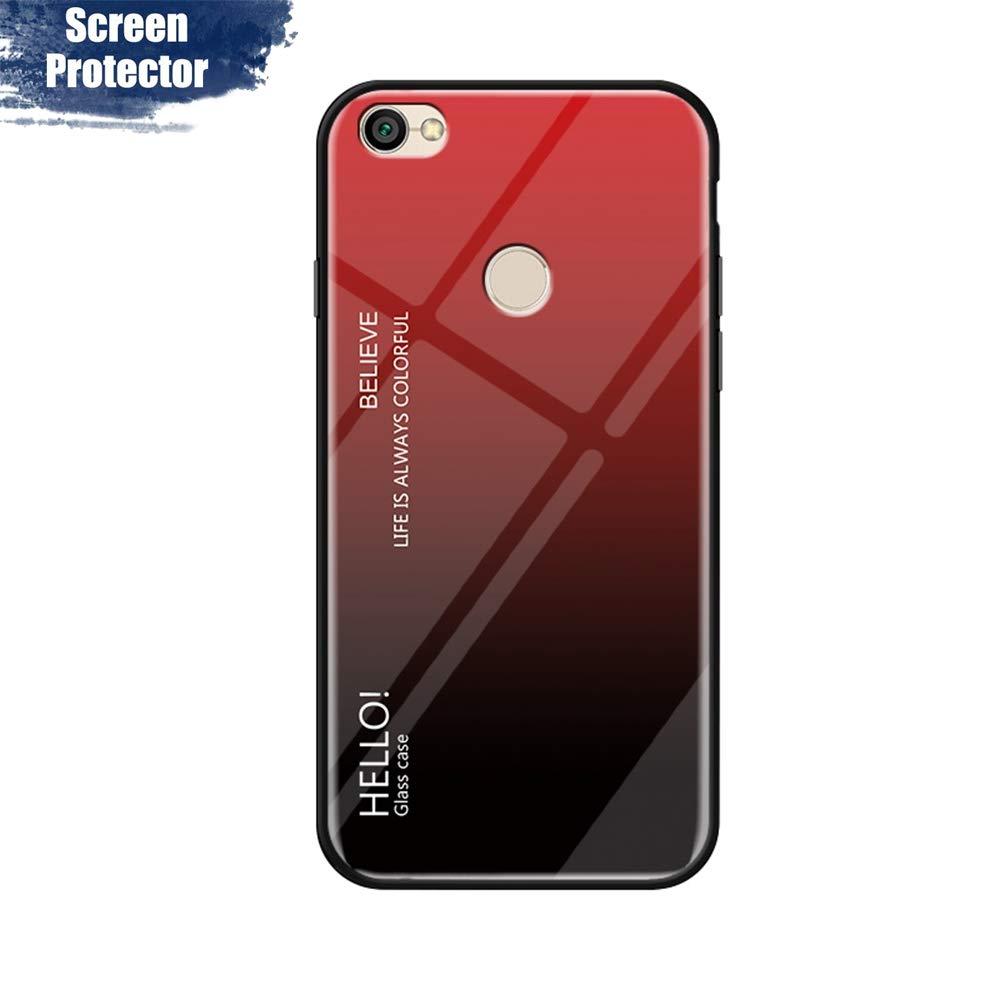 + Borde de TPU Silicona Suave Fundas Case Cover ,9H Cristal Templado M/ármol con Protector de Pantalla Rojo MadBee Funda para Xiaomi Redmi 6 Resistente a los Ara/ñazos