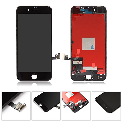 - Black Replacement LCD Screen Compatible with iPhone 8 Plus 5.5 inch Display digitizer Assembly Full Complete Front Glass with Repair Tools