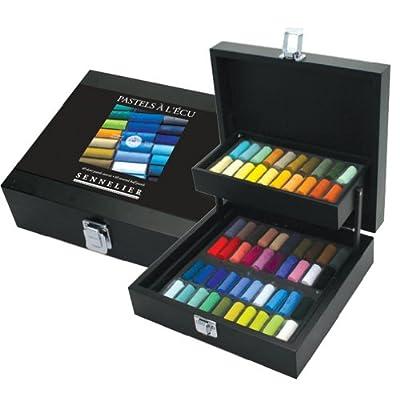 Sennelier Extra Soft Pastel Sets - Black Box Extra Soft Half Stick Pastels - ASST