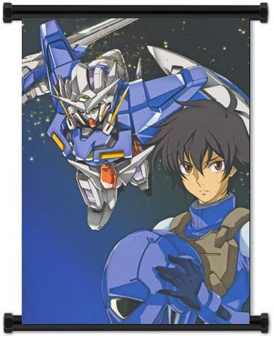 Amazon Com Mobile Suit Gundam 00 Setsuna F Seiei Anime Fabric Wall Scroll Poster 16 X21 Inches Prints Posters Prints