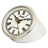 Artshai Antique Style 4 inch Round Metallic Look Table Clock