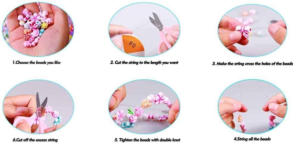 EDATOFLY 24 Clases Perlas,Cuentas Coloridas Cuentas Abalorios para DIY Pulseras Collar para Regalo Pulsera DIY Haciendo Kit