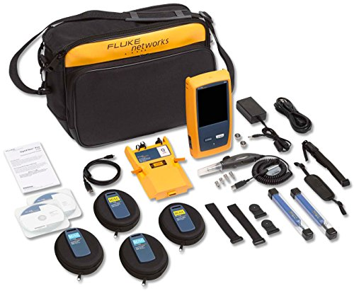 (Fluke Networks OFP-100-QI OptiFiber Pro Quad OTDR Fiber Optic Cable Tester with Built-In VFL and Inspection)
