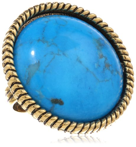Yochi Ring (Yochi Turquoise Textured Adjustable Ring)