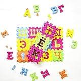 9Snail 33PCS Russian Language Kids play mat Colorful EVA Foam Alphabet Letters Numbers Mat Jigsaw Puzzle - Small Piece Size
