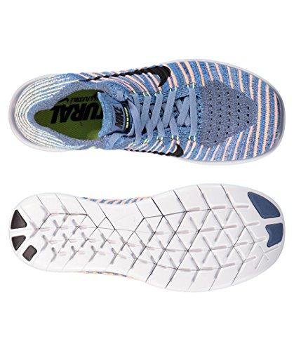 Nike Free Rn Flyknit, Zapatillas Deportivas para Interior Unisex Niños OCEAN FOG/BLACK-PALE GREY