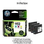 HP 952 Ink Cartridges | 3 Color Cartridges | Plus $5 Instant Ink Prepaid Code 5