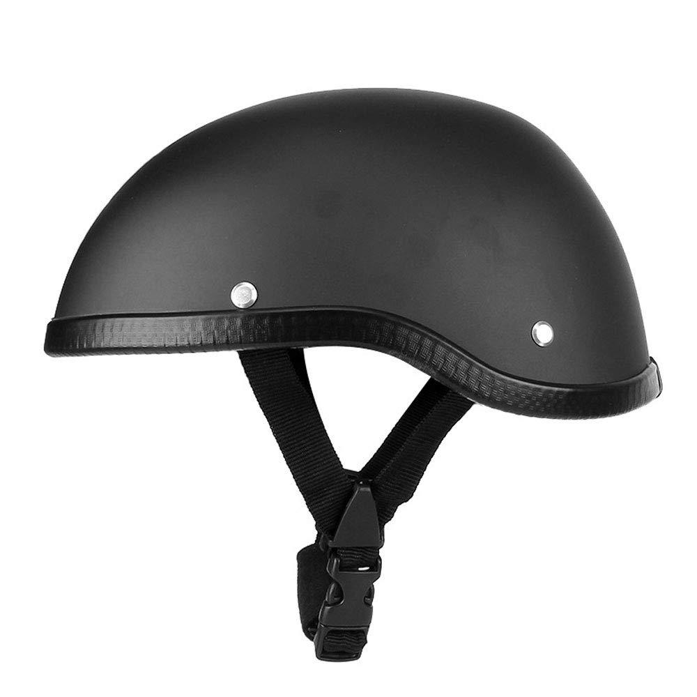 HIGGER 1pcs moto demi casque pare-soleil lib/ération rapide boucle demi visage casque de cyclisme pour hommes femmes 1