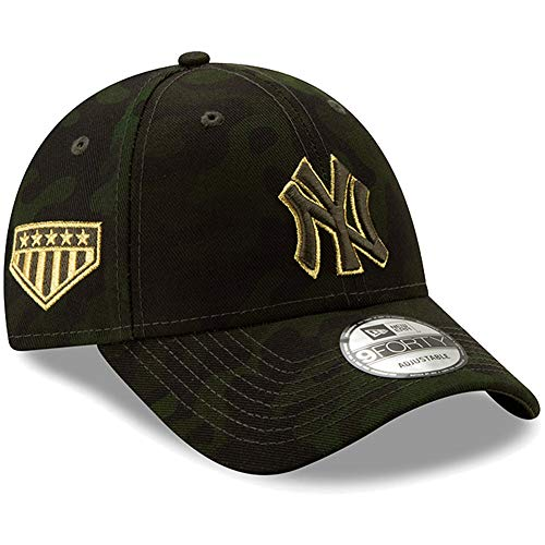 Yankees Camo - New Era New York Yankees 2019 MLB Armed Forces Day 9FORTY Adjustable Hat - Camo