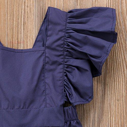 Yannzi Newborn Baby Boy Girl Romper Ruffle Sleeve One-Piece Bodysuit Playsuit Clothes Sunsuit