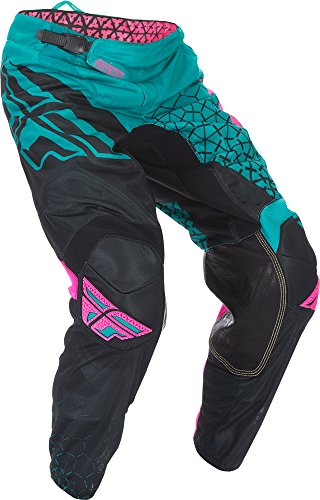Fly Racing Unisex-Adult Kinetic Trifecta Mesh Pants (Teal/Pink, Size 34)
