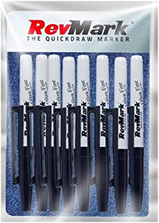 product image for RevMark Industrial Marker - Permanent Ink - Ultra Fine Tip - 8 Pack (Made in the USA) (Black)