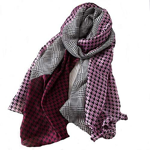Silk Vines Women's Long Light Weight Silk Scarfs Shawls Wraps Formal Everyday Wear In All Seasons.