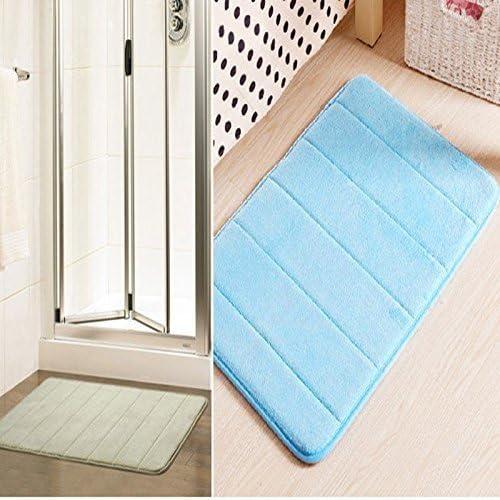 Skyeye Tapis de bain en mousse /à m/émoire Tapis de salle de bain Rayures horizontales Tapis antid/érapant Tapis de bain 40*60/cm
