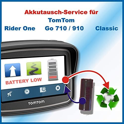 Akkutauschen De Compatible With Tomtom Premium Battery Replacement For Gps Tomtom Rider Go 500 Go 710 Go 910 Classic Tom Tom Akkutauschen De Has Been Awarded The Quality Seal Workshop N Of The Rate For Sustainable Development