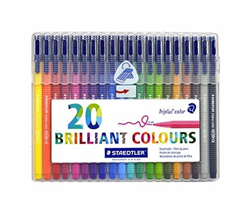 Staedtler Triplus Color Fiber Tip Pens, 323SB20P (Colour Staedtler Triplus)