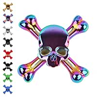 Tepoinn Fidget Spinner Skull Finger Spinner EDC Hand Spinner with Ultra Fast Ceramic Bearing, Small Size Anxiety Relief Finger Relief Toys for Kids & Adults