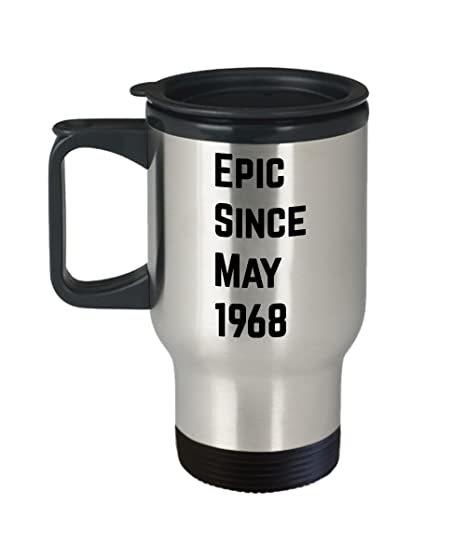 Amazon May 50th Birthday Gift Epic Since 1968 Coffee Travel