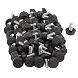 uxcell Furniture Table M8x20mm Plastic Base Thread Stem Adjustable Leveling Feet 100pcs