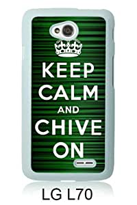 PAN Personalized Design Keep Calm and Chive on White LG L70 Case