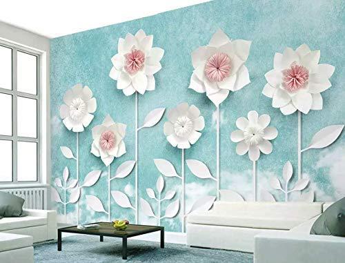 Murwall Paper Floral Wallpaper Magnolia Flower Wall Mural Mediterranean Home Decor Cafe Design Living Room Bedroom