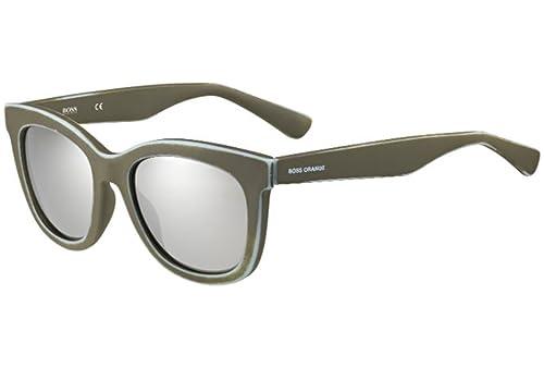 Boss Orange Für Frau 0199 Brown / Azure / Wear And Tear Effect / Grey, Silver Mirror Kunststoffgestell Sonnenbrillen