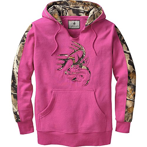 (Legendary Whitetails Ladies Outfitter Hoodie Fuchsia Medium)