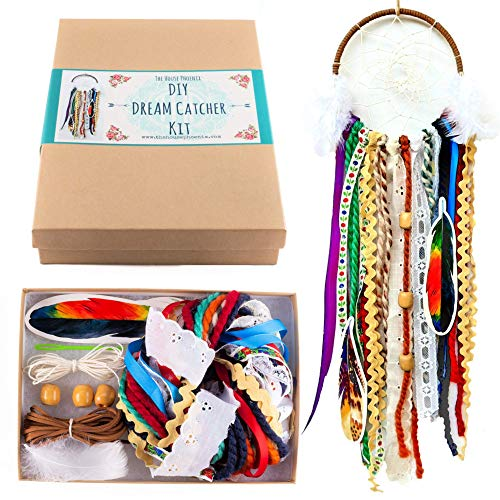 Colorful Make Your Own Dream Catcher Craft Kit Do It Yourself Home Decor DIY Birthday Gift