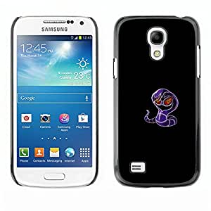 A-type Arte & diseño plástico duro Fundas Cover Cubre Hard Case Cover para Samsung Galaxy S4 Mini i9190 (Meter Monstruo Morado Serpiente)