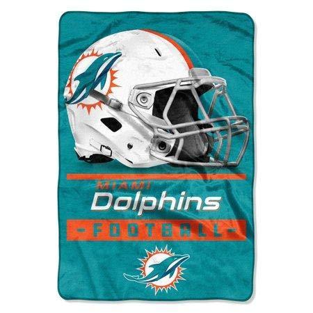 The Northwest Company NFL Miami Dolphins Sideline Oversized Micro Raschel Throw Blanket, 62