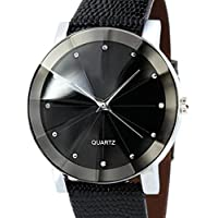 Beautyvan, Luxury Quartz Sport Military Stainless Steel Dial Leather Band Wrist Watch Men