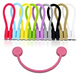 (US) TwistieMag Strong Magnetic Twist Ties - Multi Color for Men & Women - 10 Pack - Unique Gadgets For Cable Management, Hanging & Holding Stuff, Fidget Toy, Or Just For Fun!