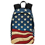 InterestPrint Independence Day American Flag Casual Backpack College School Bag Travel Daypack