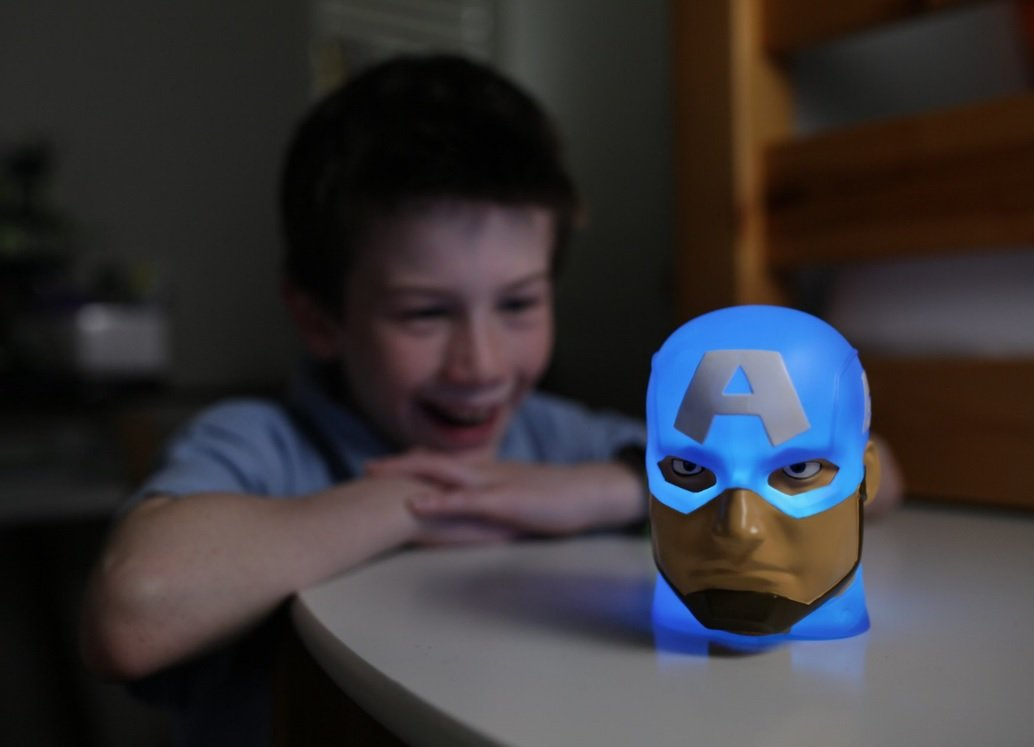 Rojo pl/ástico rojo azul Linternar Spider-Man Marvel luz de cambio de color mate