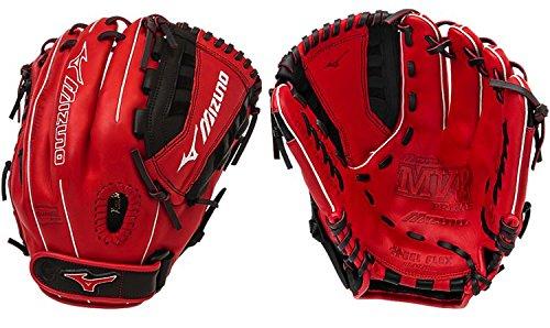 (Mizuno GMVP1200PSEF4 MVP Prime SE Gloves, Red/Black, Right Hand Throw)