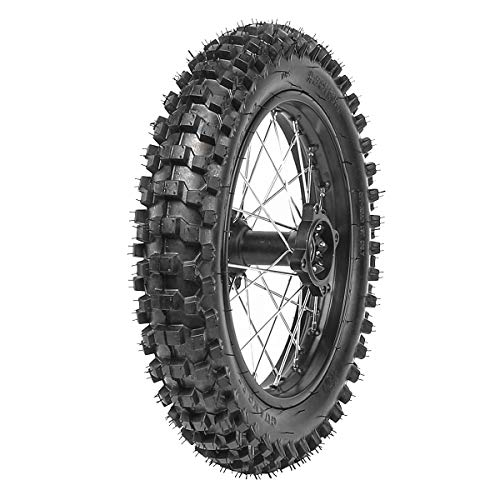 - TDPRO 90/100-14 (3.5-14) 1.85x14 Wheel Tire and Rim Inner Tube with 15mm Bearing Assembly For Dirt Pit Bike