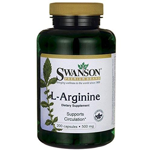 Swanson L Arginine 500 200 Caps