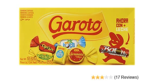 Amazon.com : Garoto Brazilian Assorted Bonbons Box 12.52 Oz : Grocery & Gourmet Food