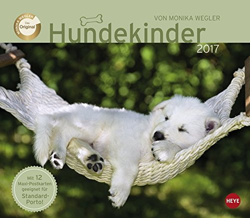 Wegler Hundekinder Maxi Postkartenkalender - Kalender 2017