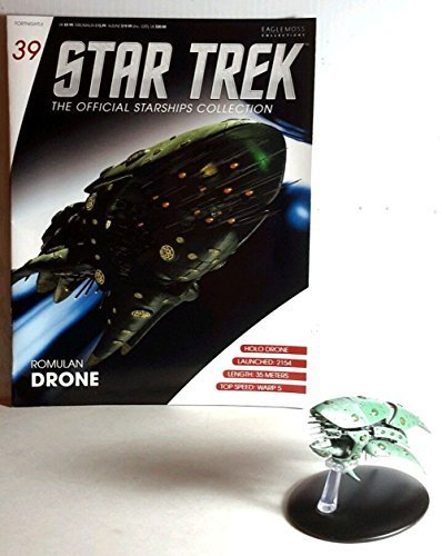 #39 Star Trek Romulan Drone Die Cast Metal Ship-UK/Eaglemoss w Magazine