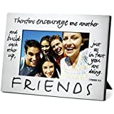 """Lighthouse Christian Products Classic Metal Friends Frame, 4 x 6"""""""