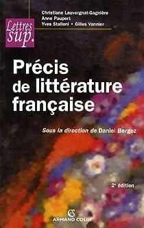 Précis de littérature française par Bergez